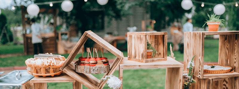 elementos de madeira ficam lindos em uma decoração rústica