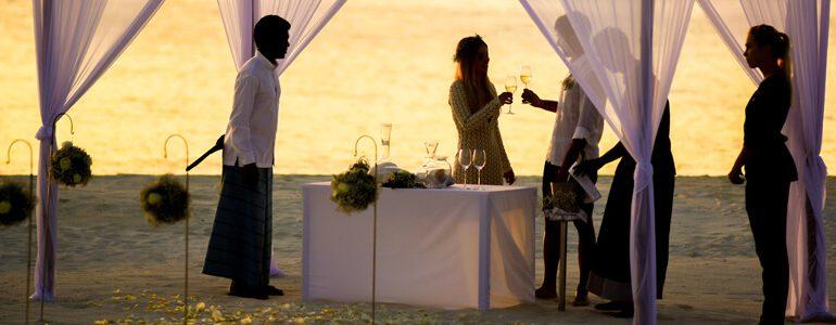 o que servir em casamentos na praia