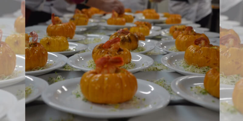 Moranga com creme de camarão - Chef Eliane Faria